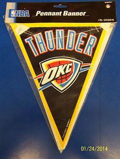Oklahoma City Thunder NBA Pro Basketball Sports Party Decoration Pennant Banner