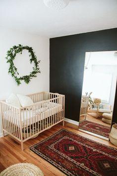 black wall in nursery                                                                                                                                                                                 More