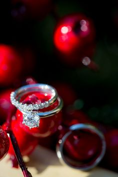 Winter wedding ring shot