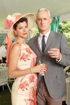 Pin for Later: The Bold Costumes on Mad Men Are the Reason Why We Already Miss the Show Season 3 Jane and Roger Sterling