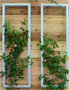 Modern Silver Steel Wall Trellis Vertical Garden (either Side Dining Room  Window?