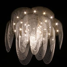 Love this modern chandelier