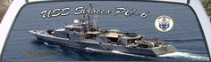USS Sirocco PC-6 US Navy Patrol Boat see through rear window mural.