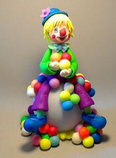 Kit de modelage pour une veilleuse led avec clown fluo en porcelaine froide : Tutoriels de fabrication par ingdes