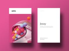 Ueno Rebrand : Business cards #1 by ueno.