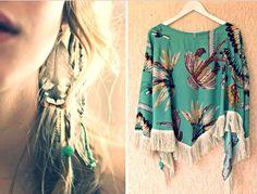 ''Hera'' silk fringed kimono, by nidodileda