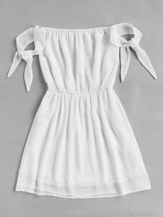 Bardot Self Tie Sleeve Elastic Waist DressFor Women-romwe - Bardot Self Tie Sle. - Bardot Self Tie Sleeve Elastic Waist DressFor Women-romwe – Bardot Self Tie Sleeve Elastic Waist DressFor Women-romwe Source by – Source by SybleDress - Teenage Outfits, Teen Fashion Outfits, Outfits For Teens, Girl Fashion, Girl Outfits, Fashion Dresses, Fashion 2018, Cute Casual Outfits, Stylish Outfits