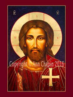 Christ Savior Icon, oil on wood, 18 by 24 inches. Savior, Jesus Christ, Son Of God, Orthodox Icons, Holy Spirit, Catholic, Lord, Face, Artist