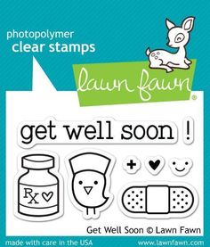 Lawn Fawn - Clear Stamps - Get Well Soon LF682