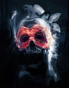 Masquerade by AVallois on DeviantArt Dark Fantasy Art, Dark Art, Quote Prints, Art Prints, Horror House, Skull Art, Masquerade, Creative Art, Art Museum