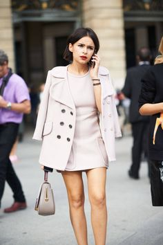 Always wanted a mini-dress w/matching coat, sweet. Best Street Style of 2013 - Best Street Style Shots of 2013 - ELLE