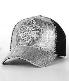 BKE Metallic Fleur Trucker Hat