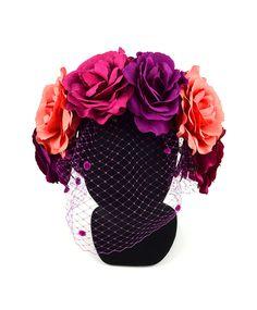 Diadema flores y rejilla_0000_DIADEMA ROSAS AZALEA CON VELO(FRONTAL)