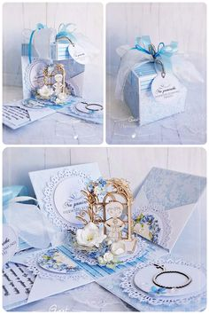 Paper Boxes, Magic Box, Exploding Boxes, Baptism Gifts, Explosion Box, Craft Corner, Cute Cards, Decorative Boxes, Scrapbooking