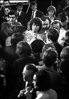 Members of the Doors at a London press conference