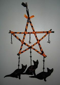 Wytchcrafted Winter Solstice Cat Gazey Protection Pentacle Pagan Wiccan Gothic