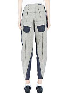 Hannah Jinkins Cross Fly Panelled Jeans