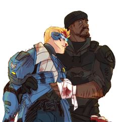 Jack Morrison and Gabriel Reyes. People like to forget that Gabe was a hero once.