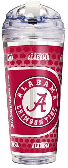 $27.90 - Kohl's Alabama Crimson Tide Acrylic Tumbler With Metallic Wrap - Make this handy double-walled tumbler part of your next tailgate party. 24-ounce capacity Double-walled design Spill-resistant screw-on lid Reusable straw BPA free Acrylic, metal Hand wash Imported Shop our full assortment of Alabama Crimson Tide items here. When you're a fan, you're family! Size: One Size. Color: Multicolor. Gender: Unisex. Age Group: Kids. Pattern: Sports. Material: Straw/Acrylic.