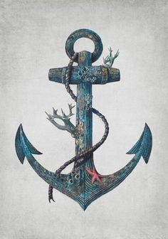 So sick of seeing the stupid cliché anchor tattoo, but this is a gorgeously artistic and original design.