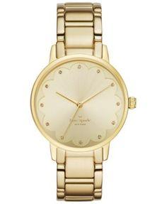 kate spade new york Women's Gold-Tone Stainless Steel Bracelet Watch 34mm KSW1047