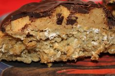 No Bake STUFT Protein Cookie. PP using: cup oats, brown rice cereal, applesauce, Protein powder and chocolate chips. High Protein Desserts, High Protein Recipes, Protein Snacks, Protein Bars, Healthy Snacks, Protein Power, Eat Healthy, Healthy Cake, Healthy Dessert Recipes