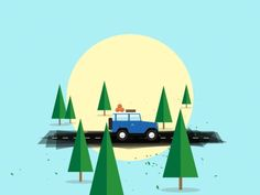 A piece of a larger animation about camping and being outside. All done in After Effects and Illustrator. Full video here:  http://www.chika-yeah.com/Happy-June