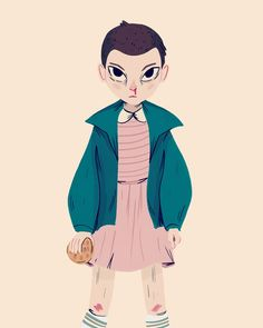 Eleven from Stranger Things by Nan Lawson