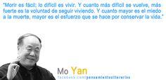 Mo Yan. Sobre morir. Sobre vivir.