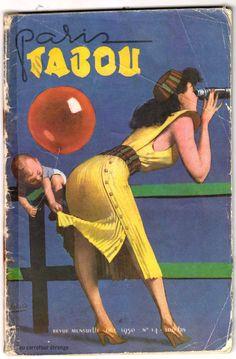 Paris Tabou No. 14 (1950). Ilustración en la concepción de Gino Boccasile.