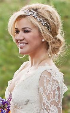 half up half down wedding hair with headband - Yahoo Image Search Results