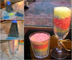 Grated Crayon Candle
