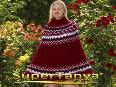 Made to order thick and fuzzy hand knit mohair sweater poncho