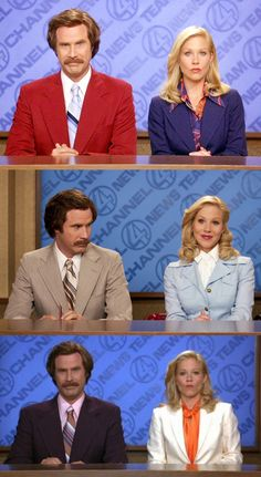 Will Ferrell and Christina Applegate in Anchorman Costume Designer Debra McGuire Bottom - white jacket and tangerine top  sc 1 st  Pinterest & Anchorman Couples Costume | The Holidays | Pinterest | Costumes ...