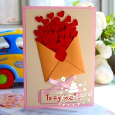 520 handmade cards to send teachers thank you card birthday cards wedding anniversary Father's Day gift DIY