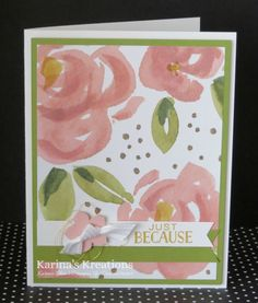 Karina's Kreations: Stampin'Up English Garden Card!