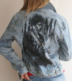 Rock n' Roll Denim Jacket Hand Painted  offered by SouthernGirlApparel, $150.00