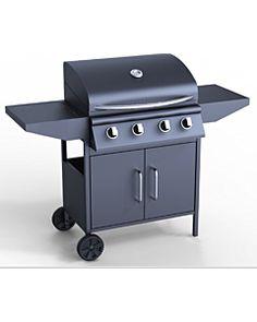 Barbecue à gaz avec plancha