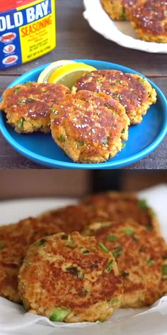 Salmon patties are an easy salmon recipe that comes together in minutes. Serve these Old Bay salmon cakes with lemon & a green salad for a light dinner. Canned Salmon Cakes, Canned Salmon Patties, Canned Salmon Recipes, Salmon Patties Recipe, Easy Salmon Recipes, Fish Recipes, Seafood Recipes, Cooking Recipes, Salmon Patties Baked