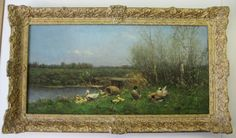 Baroque frame around painting of Constant Artz.
