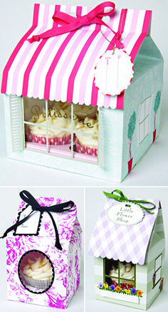 Cupcake Bakery and Favor Boxes from Hey Yo Yo Etsy