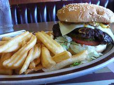 Mushroom burger at Dennys