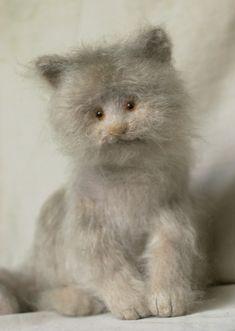 Stuffed Animals by Natasha Fadeeva - grey cat