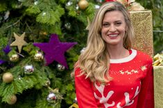"""Check out photos from the Hallmark Channel original movie, """"Miss Christmas"""" starring Brooke D'Orsay and Marc Blucas. Hallmark Christmas Movies, Holiday Movie, Hallmark Movies, Hallmark Weihnachtsfilme, Hallmark Channel, Christmas Star, Christmas Photos, Brooke D'orsay, Marc Blucas"""