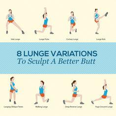 8 Lunge Variations To Sculpt A Better Butt