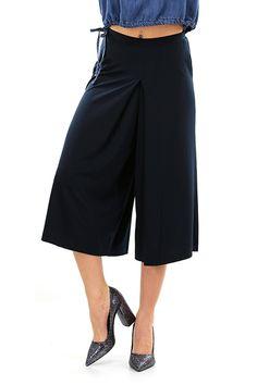 Michael Kors - Pantaloni - Abbigliamento - Pantaloni ampi al polpaccio con elastico in vita, e in tessuto elasticizzato. - NEW NAVY - € 135.00