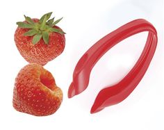 Strawberry Huller £4 Perfect for removing caps and hulls from strawberries in seconds. Made from polypropylene. Diswasher Safe. Size: H8.5 x W4.5 x D2cm.