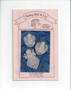 Hickory Stick & Co. Lace Hankie Linen Angels Pattern, UNCUT, 1988, Connie Broemmer, Pat Waelder Design, Christmas Holiday, Vintage Pattern by VictorianWardrobe on Etsy