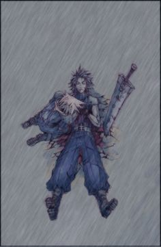 Crisis Core - Last Scene by Rousteinire on DeviantArt Final Fantasy Crisis Core, Final Fantasy Funny, Final Fantasy Cloud, Final Fantasy Artwork, Final Fantasy Vii Remake, Fantasy Series, Chica Anime Manga, Nostalgia, Cultura Pop
