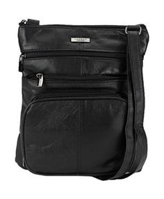 From 8.66:Ladies / Womens Super Soft Leather Shoulder / Cross Body Bag With Multiple Pockets (black) | Shopods.com